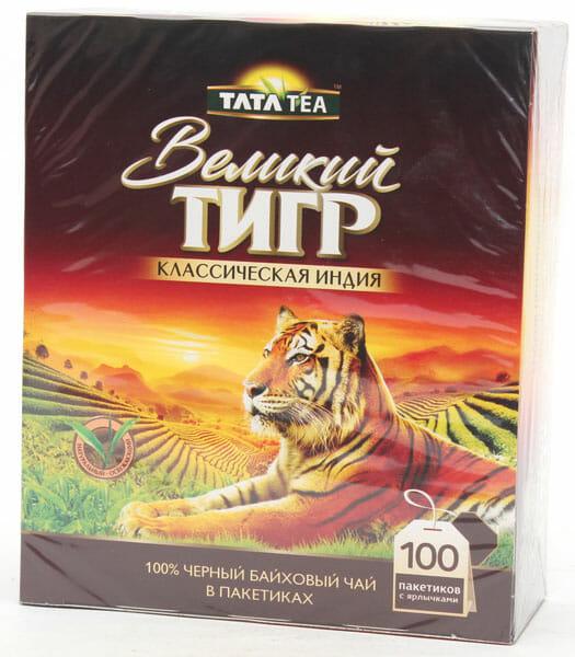 Чай ГРАНД Великий Тигр 100 пак Оптовая база, склад-магазин «Трион» г. Нягань