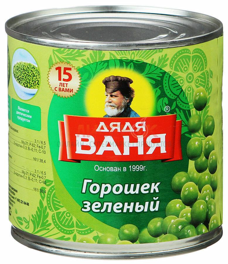 Горошек зеленый Дядя Ваня Оптовая база, склад-магазин «Трион» г. Нягань