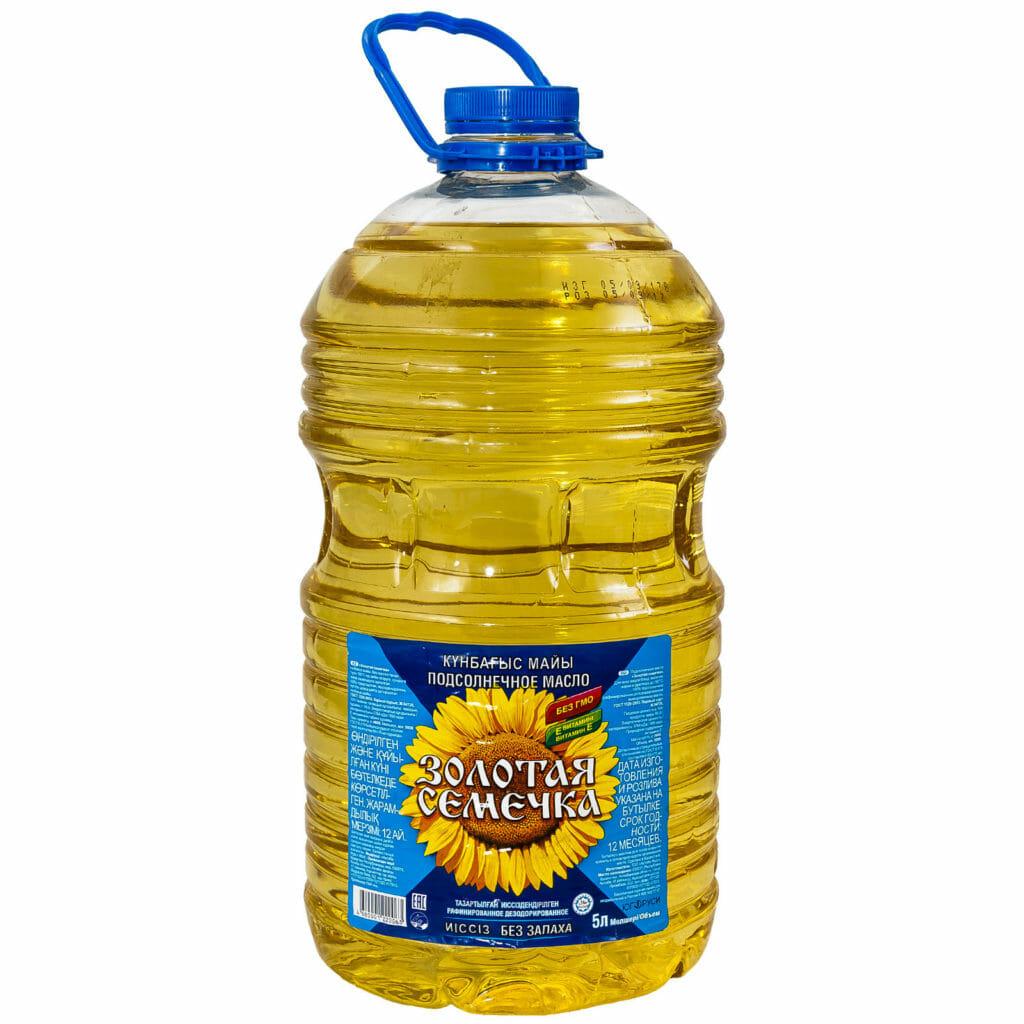 Масло Золотая семечке 0,5л. 2л. 5 л. Оптовая база, склад-магазин «Трион» г. Нягань