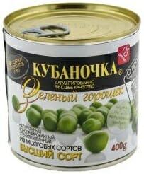 Зеленый горошек Кубаночка Оптовая база, склад-магазин «Трион» г. Нягань