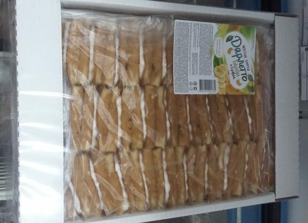 Вафли Дарлетто банан в суфле 1.2кг Оптовая база, склад-магазин «Трион» г. Нягань